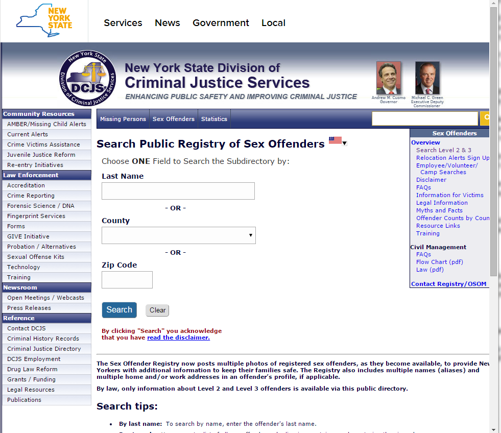 nationwide sex offenders site
